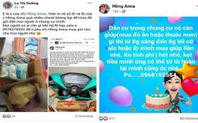 阮氏紅蓉與羅氏養在社交網站上刊登關於代為購物的內容。(截屏圖片)