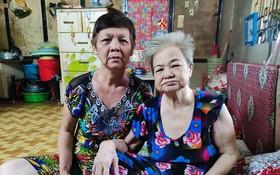 陳桂芳與張美在租房內。
