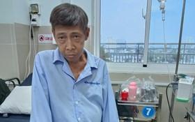 朱國威在第十一郡醫院接受醫治。