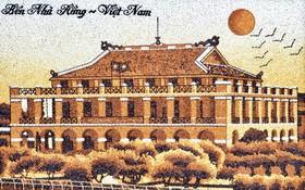瓊薇公司製作的炒米畫。