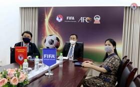 越南足協代表出席國際足聯第七十一屆全體代表大會。(圖源:互聯網)
