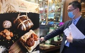 溫莎銀庭大酒家負責人親自推介裹蒸粽。