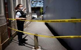 警方封鎖案發現場。(圖源:路透社)