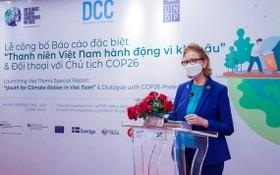 聯合國開發計劃署駐越南首席代表凱特林•維森在儀式上發言。(圖源:慶阮)