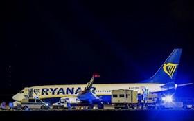 瑞安客機接到炸彈威脅緊急迫降柏林。(圖源:互聯網)