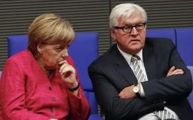 德總理默克爾(左)和施斯泰因邁爾是NSA監聽目標。(圖源:Getty Images)
