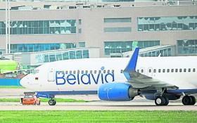 歐盟正式禁止白俄客機飛越歐盟成員國的領空及降落。圖為白俄羅斯航空的一架客機。(圖源:Getty Images)
