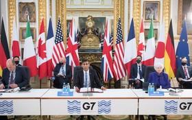 英國與包括美國財長出席G7財長會。(圖源:AP)