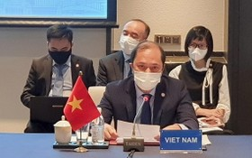 越南外交部副部長阮國勇出席DOC第19次高官會議。(圖源:外交部)