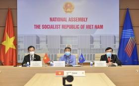 出席會議的越南國會代表團。(圖源:國會官網)