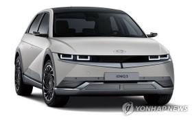 """現代汽車專屬電動汽車品牌首款車型""""艾尼氪5""""。 (圖源:韓聯社)"""