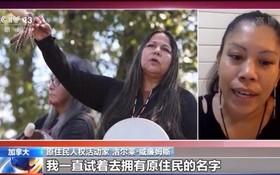 加拿大原住民人權活動家洛爾萊‧威廉姆斯19日接受採訪時抨擊了加拿大政府對原住民的種族滅絕行徑。(圖源:CCTV視頻截圖)