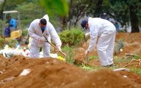 巴西為埋葬新冠病毒死者而修建的一座公墓。(圖源:互聯網)