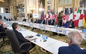 2021年6月4日,七國集團財長在倫敦舉行會議。(圖源:路透社)
