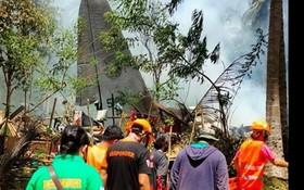 C-130軍機墜毀現場。(圖源:互聯網)