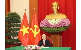 阮富仲總書記出席中共與世界政黨領導人峰會