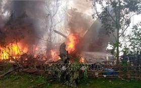 菲律賓軍機C-130墜毀現場。(圖源:越通社)