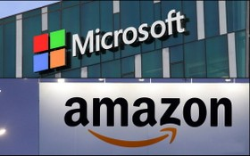 美國防部取消與微軟 100 億美元合約,亞馬遜雲端服務有望咬下這塊肥肉、股價創新高。(示意圖源:互聯網)