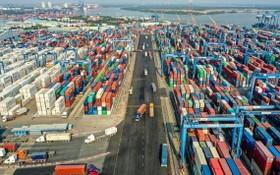 第一區域西貢港口岸海關分局的商品檢查室按規定保持距離。
