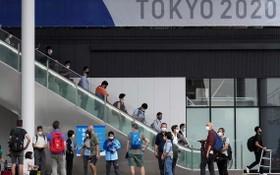 東奧媒體團參觀比賽場地。(圖源:AP)