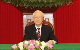 黨中央總書記與韓國總統通電話