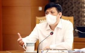 衛生部長阮清隆在會上發言。(圖源:衛生部)