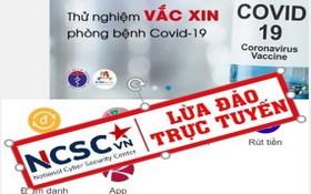 冒充衛生組織傳播的疫苗試驗詐騙資訊。(圖源:NCSC)
