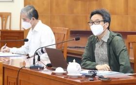 政府副總理武德膽(右)在會上發表指導意見。(圖源:潘英)