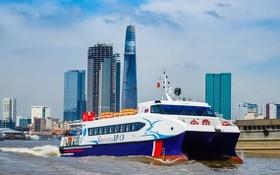 運送商品的高速艇從西區各省直通本市。