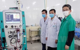 JICA 向大水鑊醫院贈送的一套ECMO設備。(圖源:市黨部新聞網)
