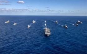 """美國海軍開始於8月3日至16日舉行""""大規模演習21""""的海上軍演。(圖源:互聯網)"""