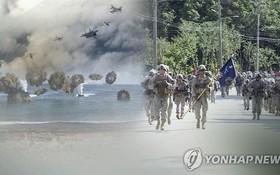 韓美聯合演習畫面。(示意圖源:韓聯社)