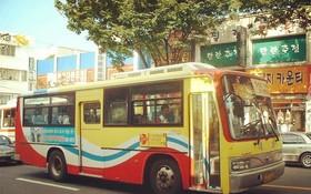 一輛公交車在首爾街道上行駛。(圖源:互聯網)