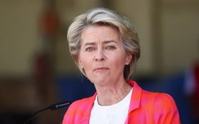 歐盟委員會主席馮德萊恩呼籲歐盟會員國,接納阿富汗難民。 (圖源:路透社)