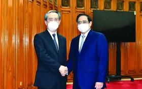 政府總理范明政接見中國大使熊波
