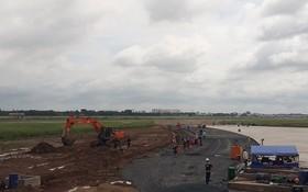 新山一機場跑道改建項目復工