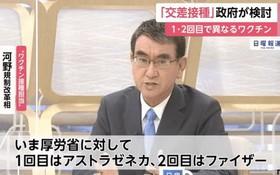 日本行政改革擔當相河野太郎在29日的富士電視台節目中發言。(圖源:視頻截圖)