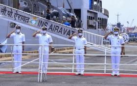 印度軍艦運醫療物資贈送越南