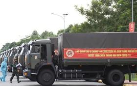 第九軍區捐助市民 50 噸果蔬