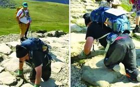 56 歲截肢男子爬行 13 小時登上山頂