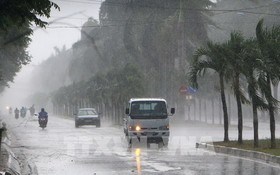 熱帶低氣壓致中部降大雨。(示意圖源:越通社)