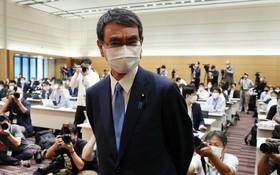 河野太郎在民調繼續領先。(圖源:AFP)
