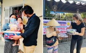 萬迪夫婦在新冠肺炎疫情中給貧困者贈送禮物。