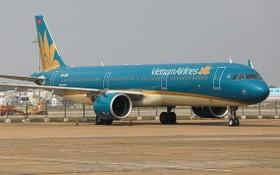 圖為一架越航客機停泊在新山一機場的停機位上。(圖源:瓊珍)
