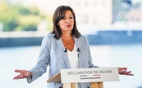 巴黎女市長安妮‧伊達爾戈正式宣佈參加2022年法國總統選舉。(圖源:AP)