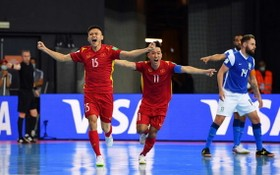 越南球員慶祝進球。(圖源:互聯網)