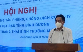 平陽省人委會副主席阮祿河在新聞發佈會上發言。(圖源:春忠)