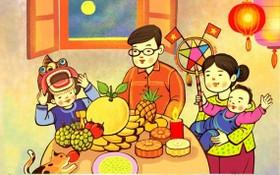 傳統中秋水果餅盤在「中秋團圓」線上展覽活動中重現。(圖由組委會提供)