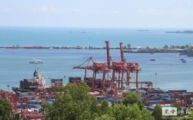 西哈努克港口一景。(圖源:柬中時報)