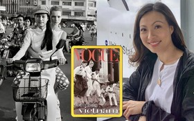 吳美鴛與凱特‧摩絲在越南拍攝雜誌封面。